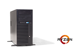 Silent-Server - RECT™ TS-3223C4-T - Tower-Server mit AMD Ryzen™ Prozessoren