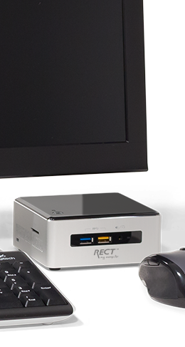 Arbeitsplatz - Desktop - RECT™ NUC DT-1265C - Intel NUC für Business – Small is Powerful!