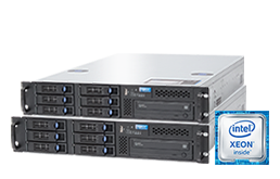 "Replica Cluster - Failover - RECT™ RS-8684MR6 - Cluster - 19"" Hyper-V Cluster: Zwei Single-CPU Rack Server (2HE) mit brandneuen Intel Xeon E5-V4 CPUs Broadwell-EP"