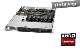 1HE AMD - Rack Server - RECT™ RS-8542R3 - 1HE AMD Opteron Quad-CPU Rack Server