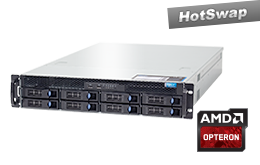 2HE AMD - Rack Server - RECT™ RS-8631R8 - 2HE Single-CPU Rack Server mit neuesten AMD Opteron™ 6300 Serie