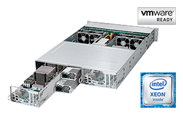 2HE Intel - Rack Server - RECT™ RS-8685VR24-Twin - 2-Systeme in einem 2HE Rack Server mit Intel Xeon E5-v4 Prozessoren
