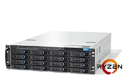 Server - Rack Server - 3HE - RECT™ RS-8725R16 - 3HE Rack Server mit AMD RYZEN™ 5000 CPUs