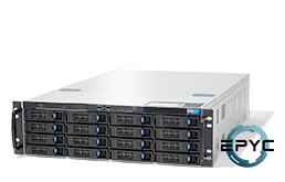 Server - Rack Server - 3U - RECT™ RS-8735R16 - 3U Rack Server with AMD EPYC Rome CPU for up to 64 Cores