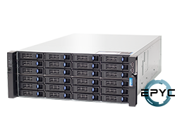 Server - Rack Server - 4U - RECT™ RS-8835R24 - 4U Rack Server with single AMD EPYC Rome CPU up to 64 Cores