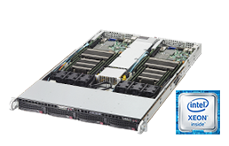 Twin / Multinode - Rack Server - RECT™ RS-8585R4-Twin - 1HE Rack Server mit zwei Intel Xeon E5-v4 Systemen