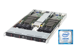 Server - Rack Server - Twin / Multinode - RECT™ RS-8585R8-Twin - 1U Rack Server with 2 Intel Xeon E5-v4 systems