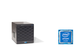 Silent-Server - RECT™ ST-2253C4-N - Compact mini Tower-Storage with 4 hot-swap trays for up to 40TB capacity