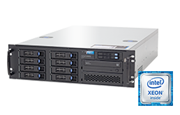 Silent-Server - RECT™ RS-8784R8 - 3HE Single-CPU Rack Server mit Intel Xeon E5-V4 CPUs Broadwell-EP