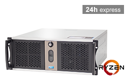 Silent-Server - RECT™ RS-8825C5-T - Short 4U Rack Server with AMD Ryzen™ 3000 Processor