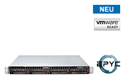Virtualisierung - VMware - RS-8535VR4 - 1HE Rack Server mit Single AMD EPYC Rome CPU bis 64 Kerne